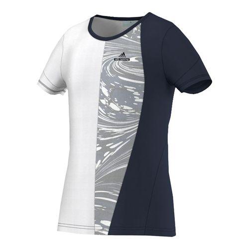 adidas Girls Stella McCartney NY Barricade Tee - Navy/White/Grey
