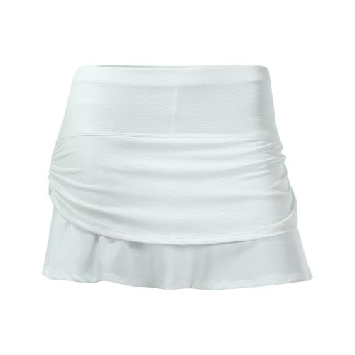 Lucky in Love Girls Core Pindot Rouched Tier Skirt - White