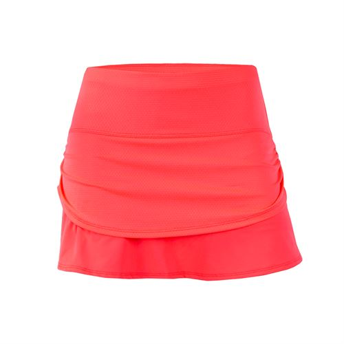 Lucky in Love Nano Rainbow Girls Ruched Tier Skirt - Coral
