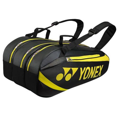 Yonex Active 9 Pack Tennis Bag - Black/Lime