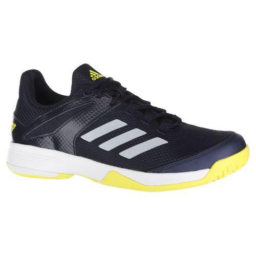 adidas Junior Adizero Club K Tennis Shoe - Ink/White/Yellow