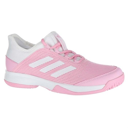 adidas Adizero Club Junior Tennis Shoe - True Pink White 87102c0bb0