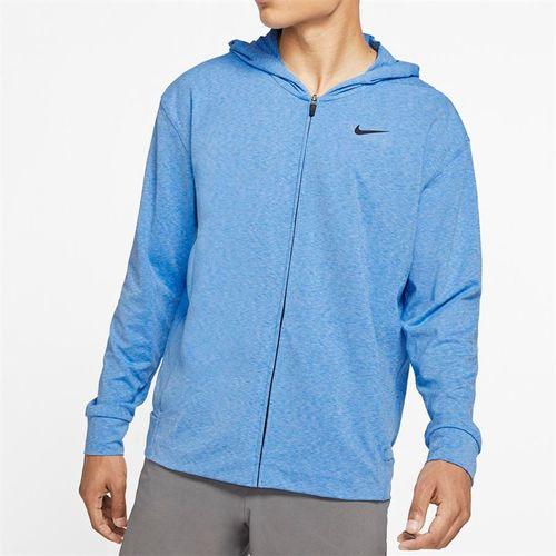 Nike Dri Fit Hoodie - Pacific Blue Heather/Black