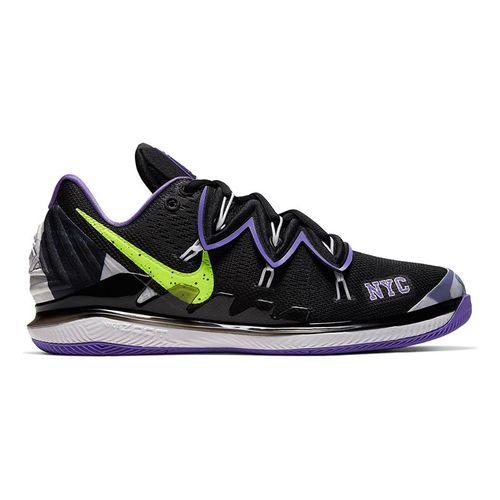 Nike Air Zoom Vapor X Kyrie V Mens Tennis Shoe - Black/Volt/Psychic Purple