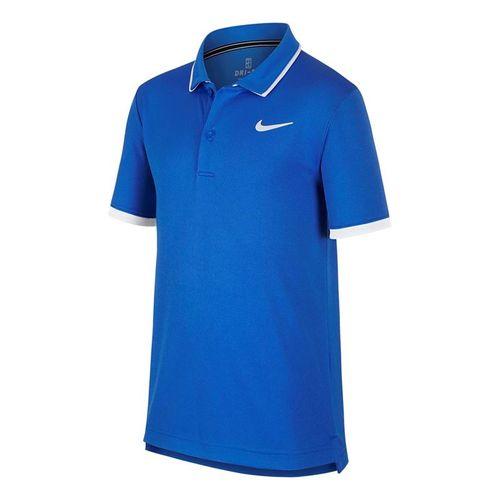 Nike Boys Court Dri Fit Polo - Signal Blue/White