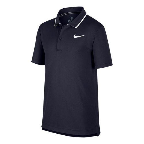 Nike Boys Court Dri Fit Polo - Obsidian/White
