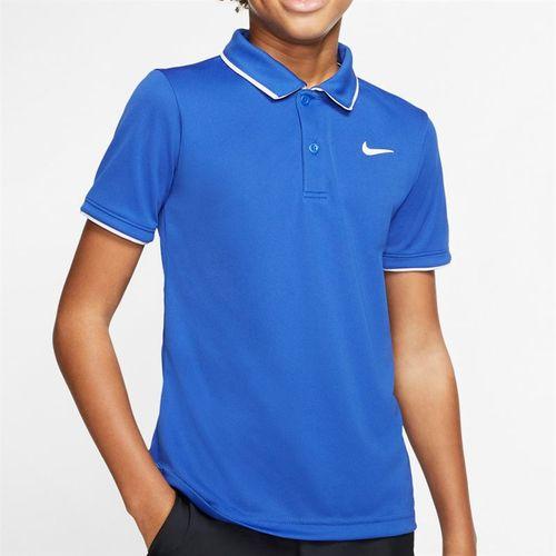 Nike Boys Court Dri Fit Polo Shirt Game Royal/White BQ8792 480