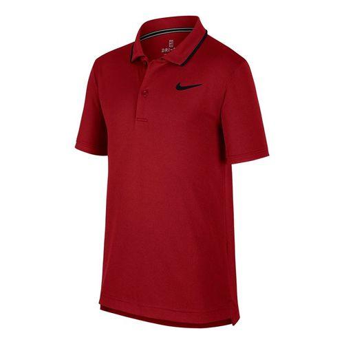 Nike Boys Court Dri Fit Polo - Team Crimson/Black
