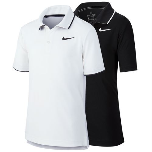 Nike Boys Court Dri Fit Polo Shirt BW