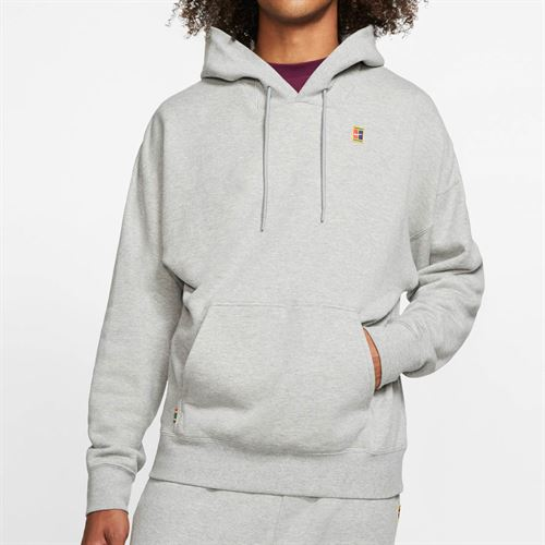 Nike Court Heritage Hoodie Mens Dark Grey Heather BV0760 063