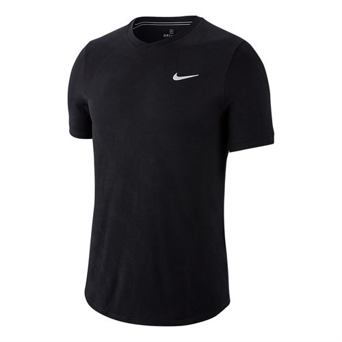 Nike Court Dri Fit Challenger Shirt Mens Black/White BV0766 010