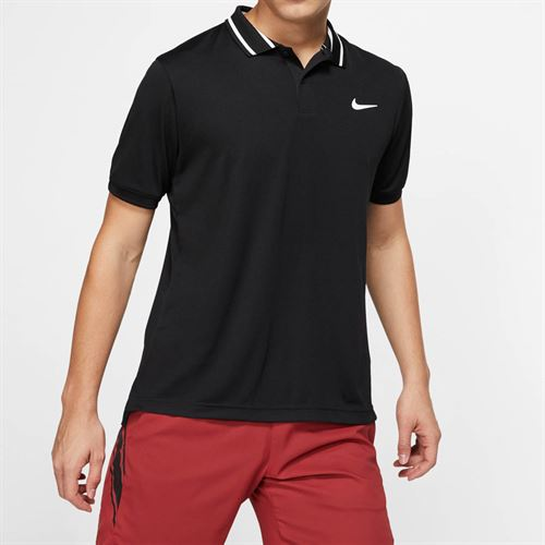 Nike Court Dry Pique Polo - Black/White