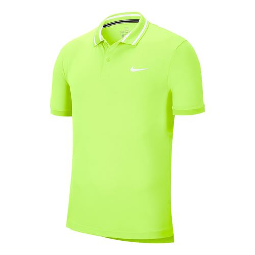Nike Court Dri Fit Pique Polo Shirt Mens Ghost Green/White BV1194 358