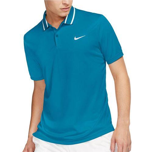 Nike Court Dri Fit Polo Shirt Mens Neo Turquoise/White BV1194 425