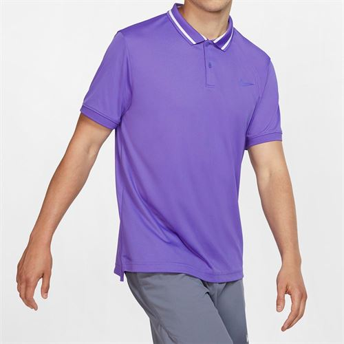 Nike Court Dry Pique Polo - Psychic Purple/White