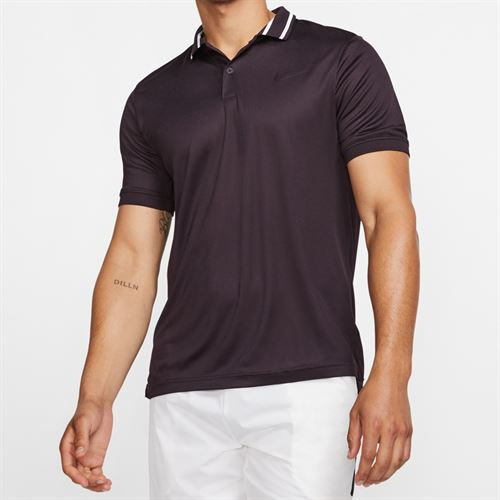 Nike Court Dry Pique Polo - Burgundy Ash