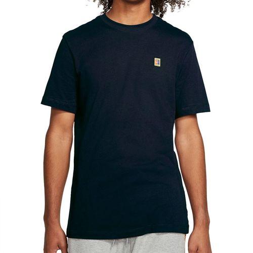 Nike Court Tee Shirt Mens Obsidian/White BV5809 452