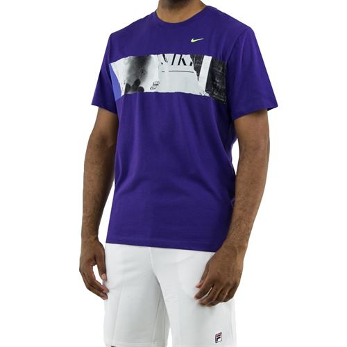 Nike Court Graphic Tee - Purple