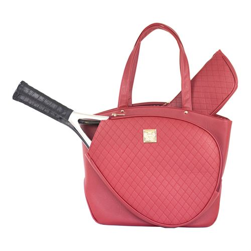 Court Couture Cassanova Quilted Tennis Bag - Ruby