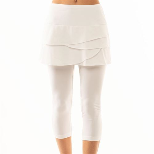 Lucky in Love Scallop Capri - White