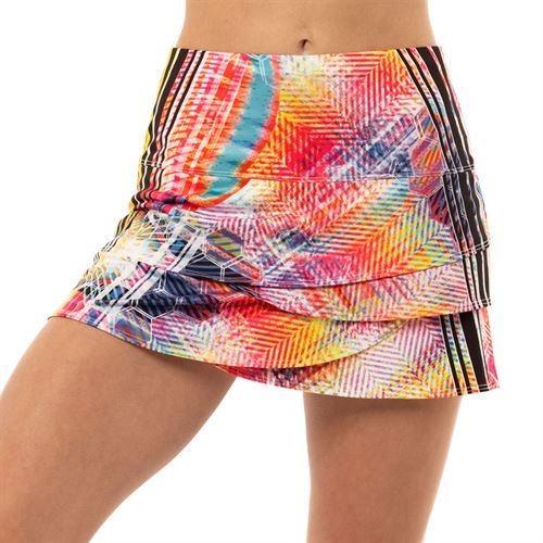 Lucky in Love High Energy Scallop Novelty Skirt Womens Multi Color CB206 C07955