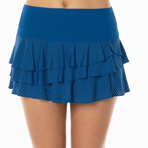 969d9503e1 Lucky in Love Axis Point Shadow Stripe Skirt - Electric Blue