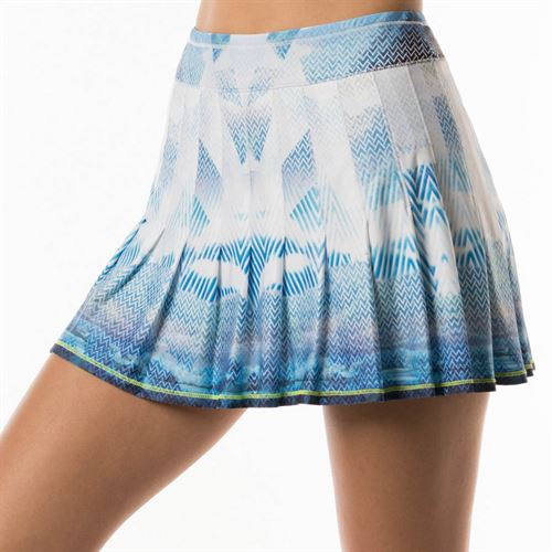4eb97a1a58 Lucky in Love Axis Point Long Longitude Pleated Skirt - Electric Blue