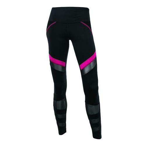 Lucky in Love Off The Charts Moto Mesh Legging - Black/Pink Glow