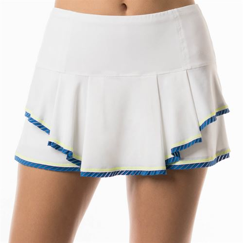 Lucky in Love Axis Point Multilayer Shadow Stripe Border Skirt - Electric Blue