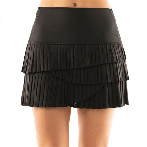 Lucky in Love BMS Hi Pleat Scallop Skirt - Black