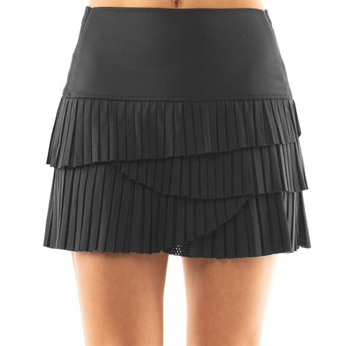 Lucky in Love BMS Hi Pleat Scallop Skirt Womens Charcoal CB349 040