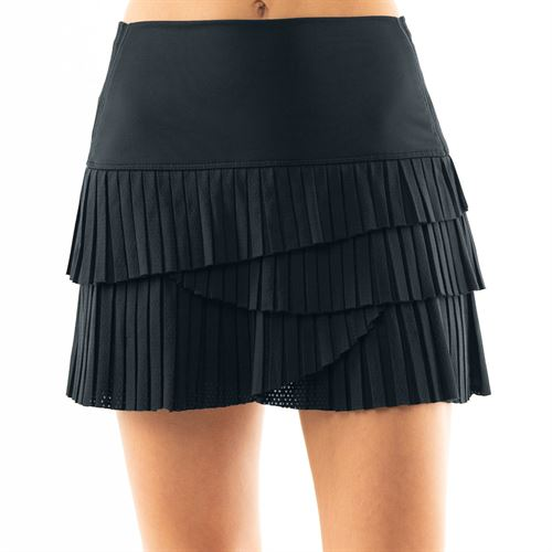 Lucky in Love BMS Hi Pleat Scallop Skirt - Midnight
