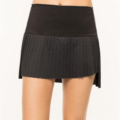 Lucky in Love BMS Hi Chop Pleated Skirt - Black
