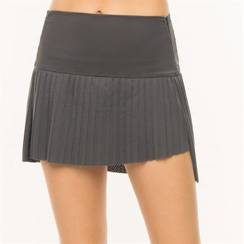 Lucky in Love BMS Hi Chop Pleated Skirt - Charcoal