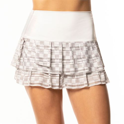 Lucky in Love BMS Core Hi Check Skirt Womens White CB384 A25110