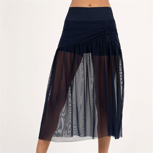 Lucky in Love Heritage Mesh Skirt Womens Midnight CB428 401