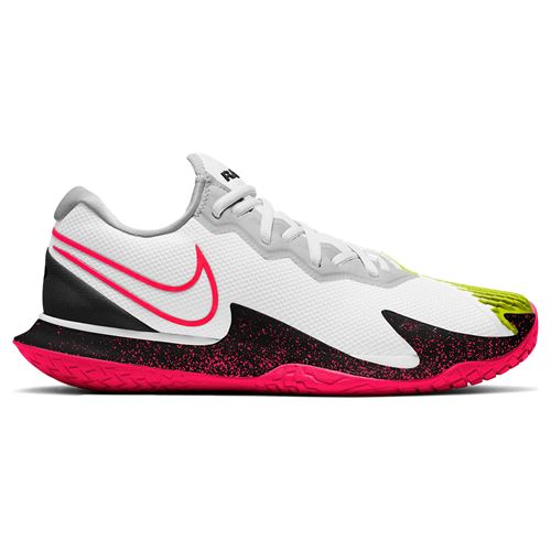 Nike Court Air Zoom Vapor Cage 4 Mens Tennis Shoe White/Solar Red/Hot Lime/Neo Turquoise CD0424 104