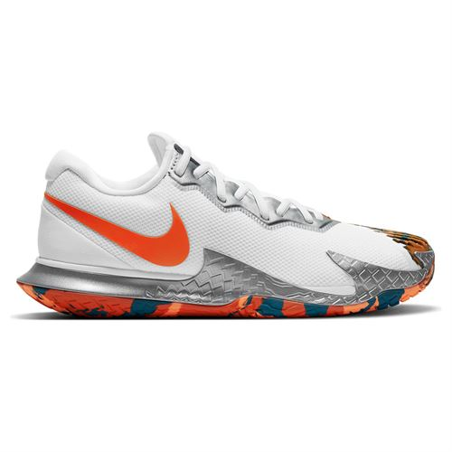 Nike Court Air Zoom Vapor Cage 4 Mens Tennis Shoe White/Team Orange/Green Abyss CD0424 106