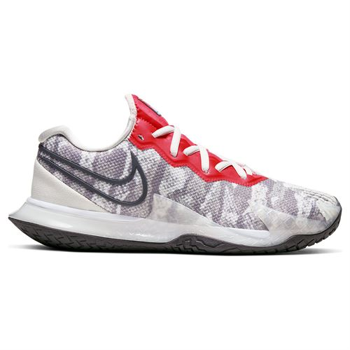 Nike Court Air Zoom Vapor Cage 4 Womens Tennis Shoe Platinum Tint/Thunder Grey/Laser Crimson CD0431 004