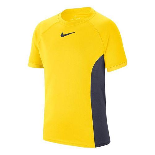 Nike Boys Court Dri Fit Crew Shirt Opti Yellow/Gridiron CD6131 731