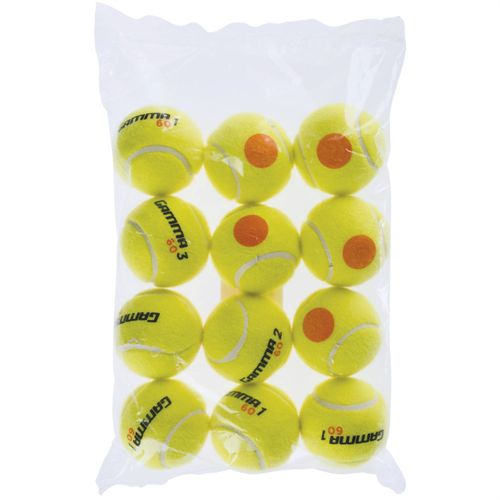 Gamma 60 Orange Dot Tennis Balls 12 Pack