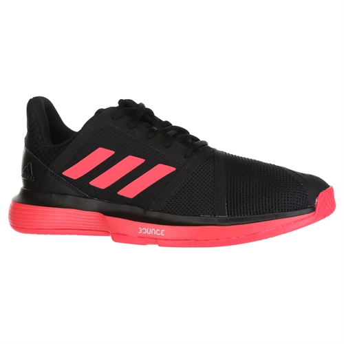 adidas Court Jam Bounce Mens Tennis Shoe - Core Black/Shock Red/White