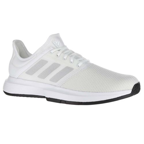 more photos 451b1 3dac3 adidas Game Court Mens Tennis Shoe - White Matte Silver Core Black