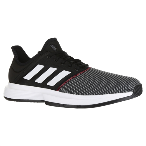 a19147d0028e adidas Game Court Mens Tennis Shoe - Core Black White Shock Red