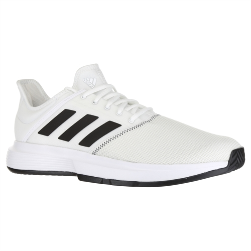 bae6d76edde28 adidas Game Court Wide Mens Tennis Shoe - White/Core Black/Grey