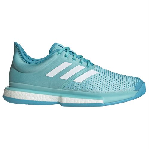 61def1ee0 adidas Sole Court Boost Parley Mens Tennis Shoe - Blue Spirit White Vapour  Blue