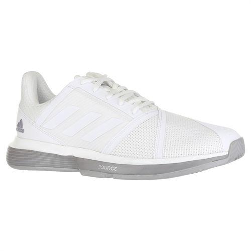 8e2b31578c7a1 adidas Court Jam Bounce Womens Tennis Shoe - White Light Granite