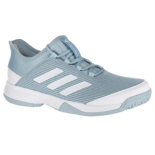 adidas Adizero Club Junior Tennis Shoe - Ash Grey White 3ac52bc682