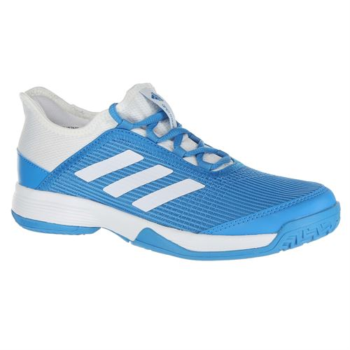adidas Adizero Club Junior Tennis Shoe - Shock Cyan White 2450e48eaa