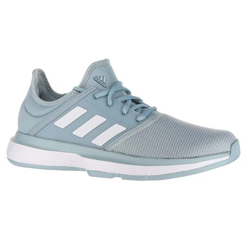 adidas Sole Court XJ Junior Tennis Shoe - Ash Grey/White/Light Granite